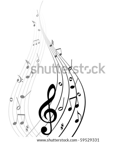 Abstract vector musical background - stock vector