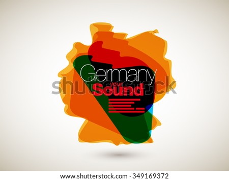 Abstract Vector Nation Map Background - Germany - stock vector