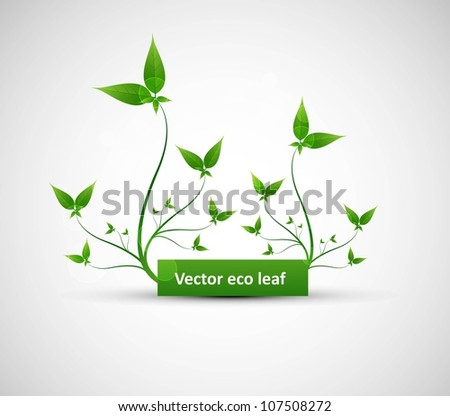 abstract Vector natural frame eco green lives whit background - stock vector