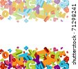 abstract vector numbers background - stock photo