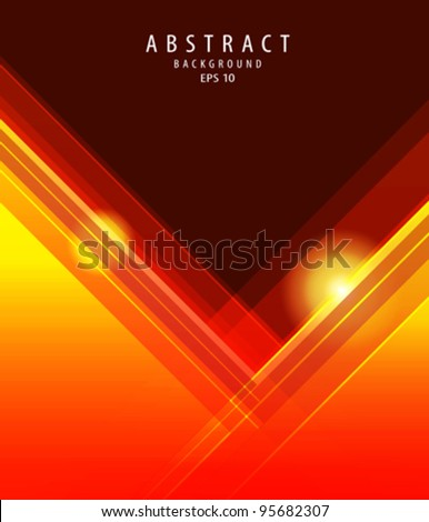 Abstract vector orange background illustration - stock vector