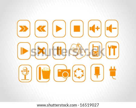 abstract vector orange logo element illustrations