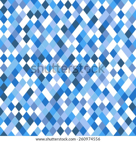 Abstract vector pattern of different blue elements - stock vector