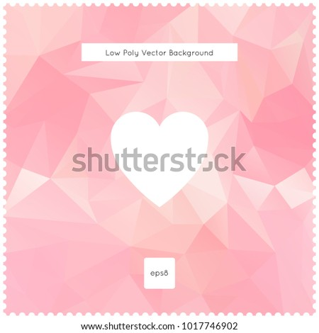 Abstract vector pink polygonal background. The vector illustration for ui, web games, tablets, wallpapers, and patterns.