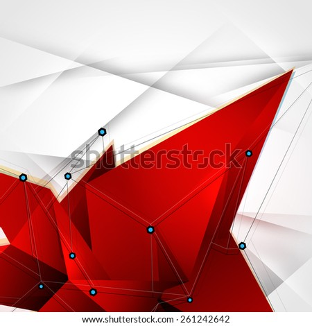 Abstract vector polygonal geometry shape background. Eps10 - stock vector