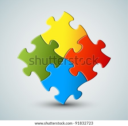 Abstract vector puzzle / solution background - stock vector