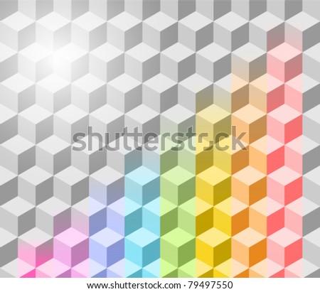 Abstract vector rainbow background. Eps 10. - stock vector