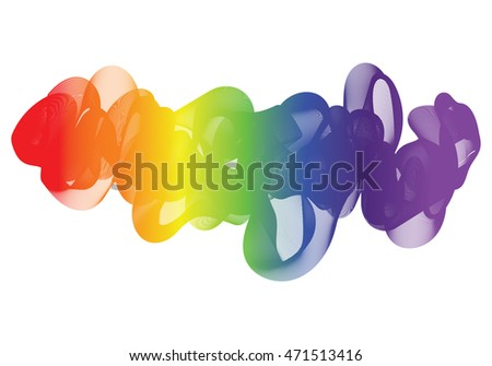 Abstract Vector Rainbow Wavy lines, Spectrum Waves