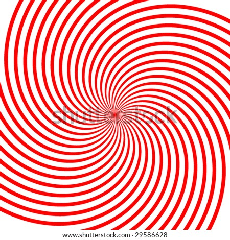 Abstract vector red vortex illustration Background - stock vector