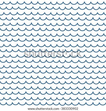 Abstract vector seamless pattern. Blue and white hipster print with hand drawn stripes and waves. Trendy monochrome texture with hand drawn doodle lines. Stylish linear graphic design. - stock vector