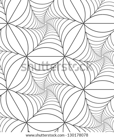 Abstract vector seamless pattern with net-like figures.