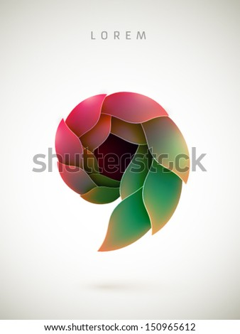 abstract vector shape - stock vector