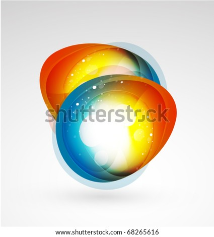 Abstract vector shapes - stock vector