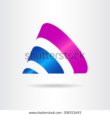 abstract vector sign cones shape template stock vector 308352692