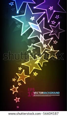 Abstract Vector Stars - stock vector