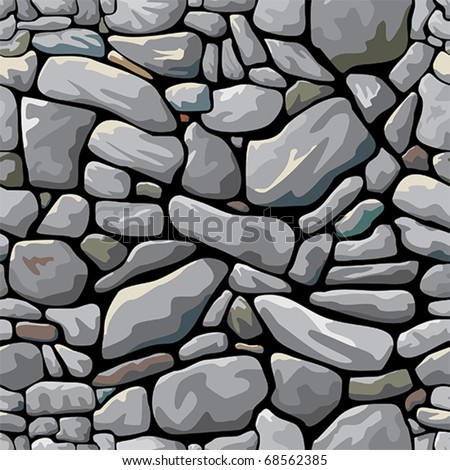Abstract vector stone wall. Seamless pattern - stock vector