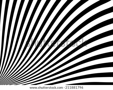 Abstract vector striped background with black and white stripes - stock vector