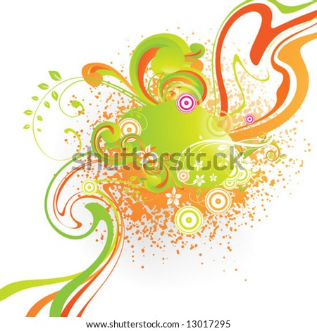 Abstract vector summer background for design.