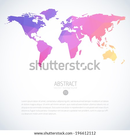 Abstract vector template world map world stock vector 196612112 abstract vector template with world map world map blank world map polygon vector world gumiabroncs Gallery