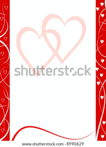abstract vector valentine background - stock vector