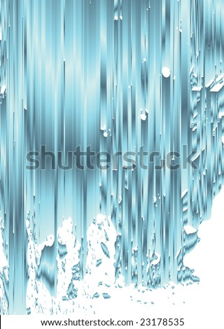 Abstract vector waterfall design illustration - stock vector