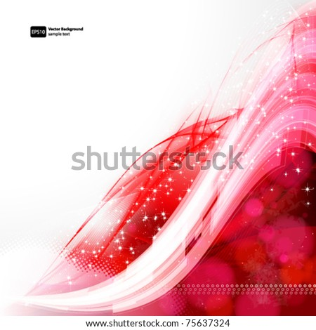 Abstract Vector Wave background. - stock vector