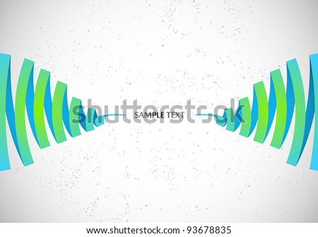 Abstract Vector Waves on white background - stock vector