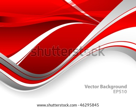 abstract vector wavy lines  and copy space. Eps10 - stock vector