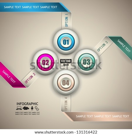 abstract version infographic for your data - stock vector