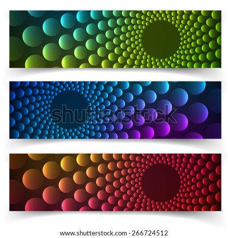 Abstract vertical banner with forms of empty frames for your www design - stock vector