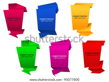 Abstract vertical banners in origami style for web design. Jpeg version also available in gallery - stock vector