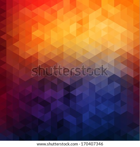 Abstract vibrant mosaic background - stock vector