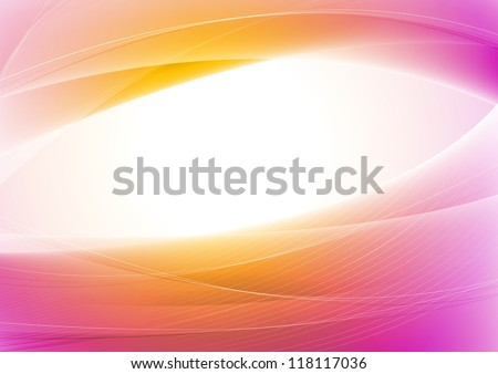Abstract vibrant wavy background. Vector design eps 10. Gradient mesh included - stock vector