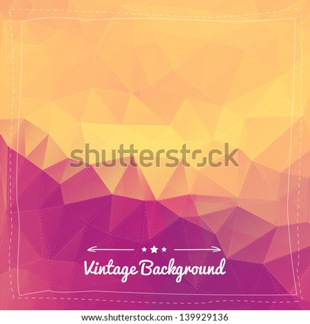 Abstract vintage background for design - stock vector