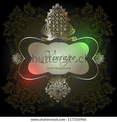 abstract vintage elegant vector background with a geometrical ornament - stock vector