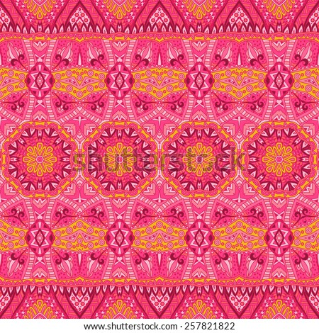 Abstract vintage ethnic seamless ornamental background texture - stock vector