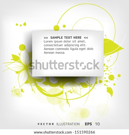 abstract vintage floral background