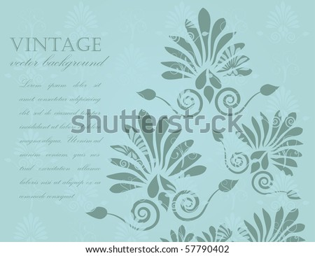 Abstract vintage floral background - stock vector