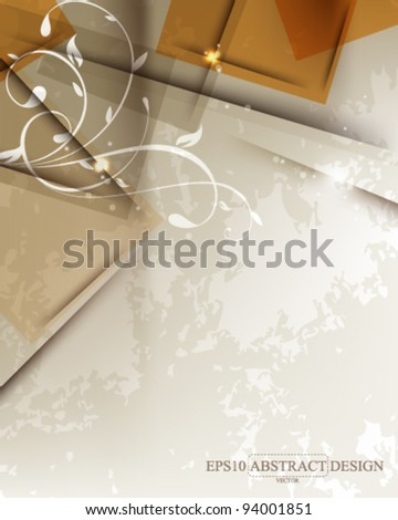 abstract vintage floral concept design. eps10 vector format - stock vector