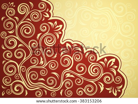 Abstract vintage floral vector backdrop. - stock vector