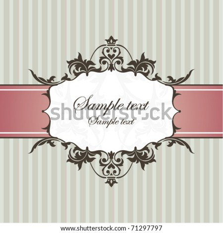 abstract vintage frame vector illustration