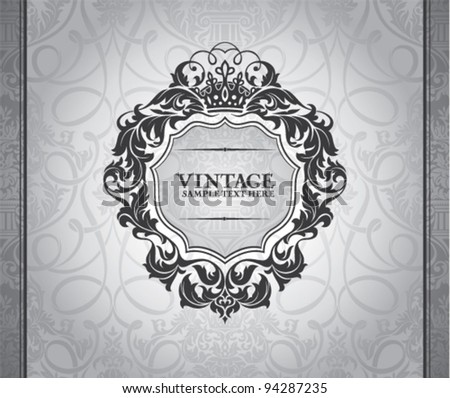 abstract vintage frame vector illustration - stock vector