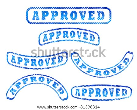 Abstract Vintage Grunge Approved Stamps - stock vector