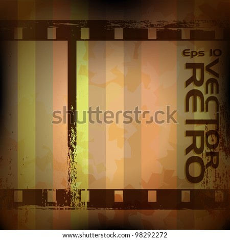 Abstract vintage grunge filmstrip retro background. - stock vector