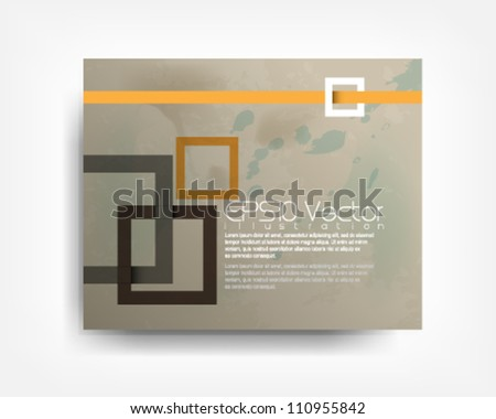 abstract vintage overlapping square background illustration. eps10 vector format - stock vector