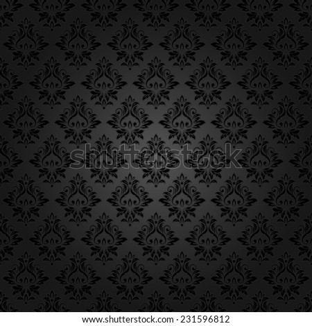Abstract vintage seamless damask pattern - stock vector