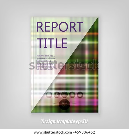 Abstract Vintage table cloth grunge color design Report cover template design with triangular polygons. Business brochure document layout for company presentations. - stock vector