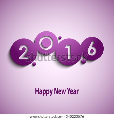 Abstract violet New Year wishes with circles template
