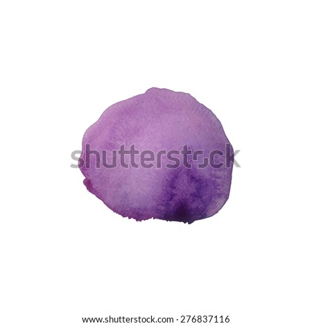 Abstract violet watercolor hand painted background. Vector watercolor design element