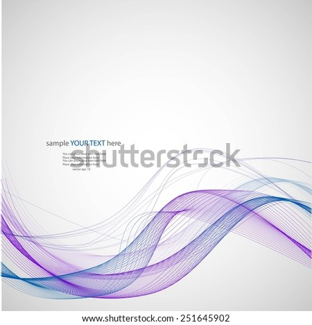 Abstract violet waves on gray background